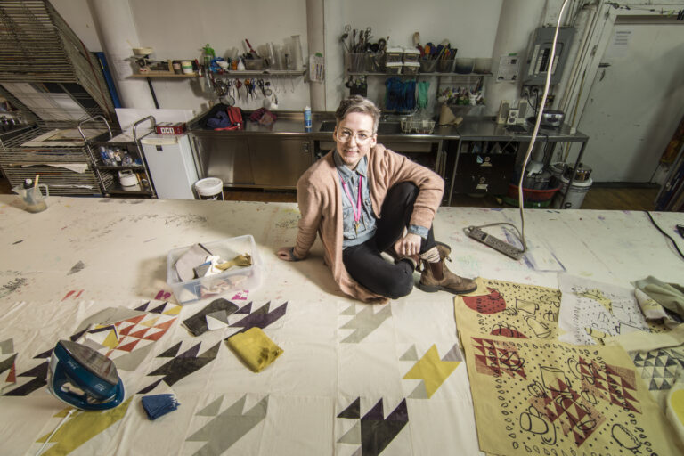 This image shows Jenna Reid in their studio
